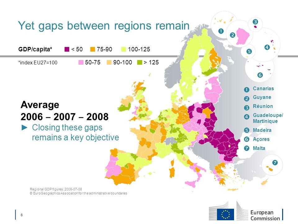 Yet gaps between regions remain