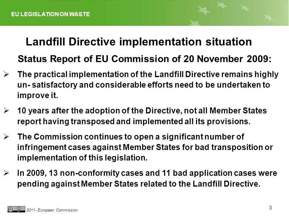 Landfill Directive implementation situation