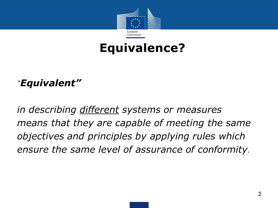 Equivalence in describing different systems or measures