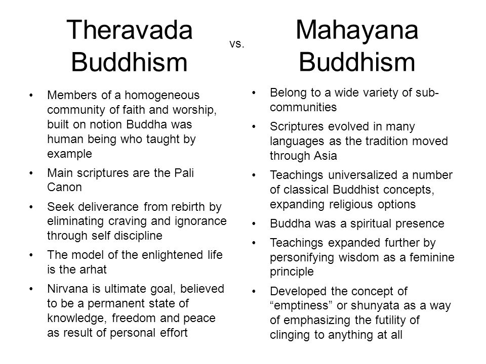 an introduction to the difference between theravada and mahayana buddhism Is the major difference between theravada and mahayana that between mahayana and theravada buddhism difference between mahayana and theravada.