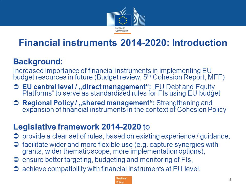 Financial instruments : Introduction