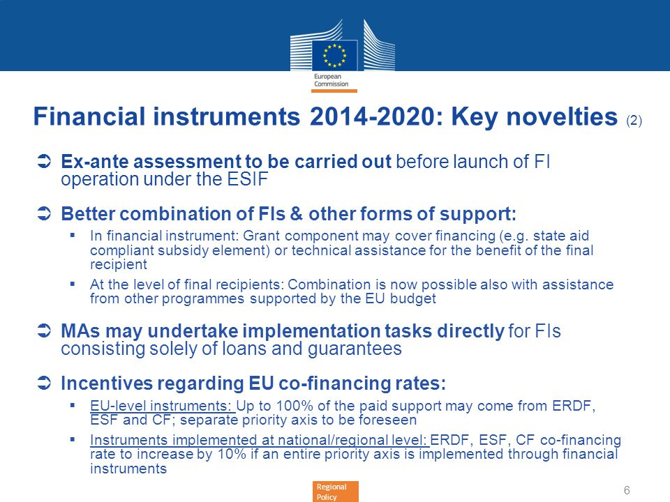 Financial instruments : Key novelties (2)