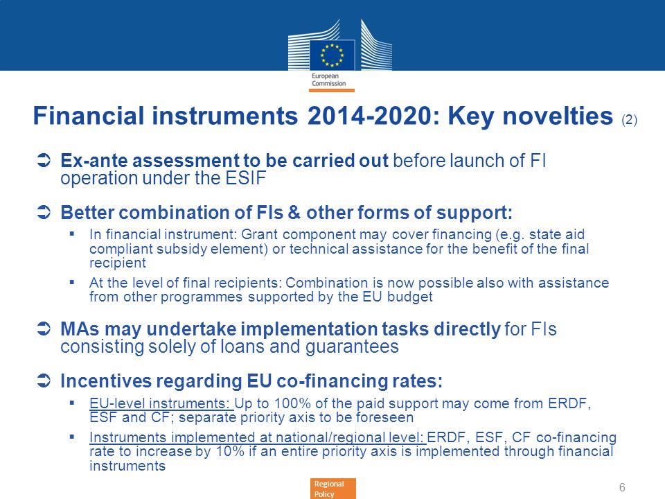 Financial instruments 2014-2020: Key novelties (2)