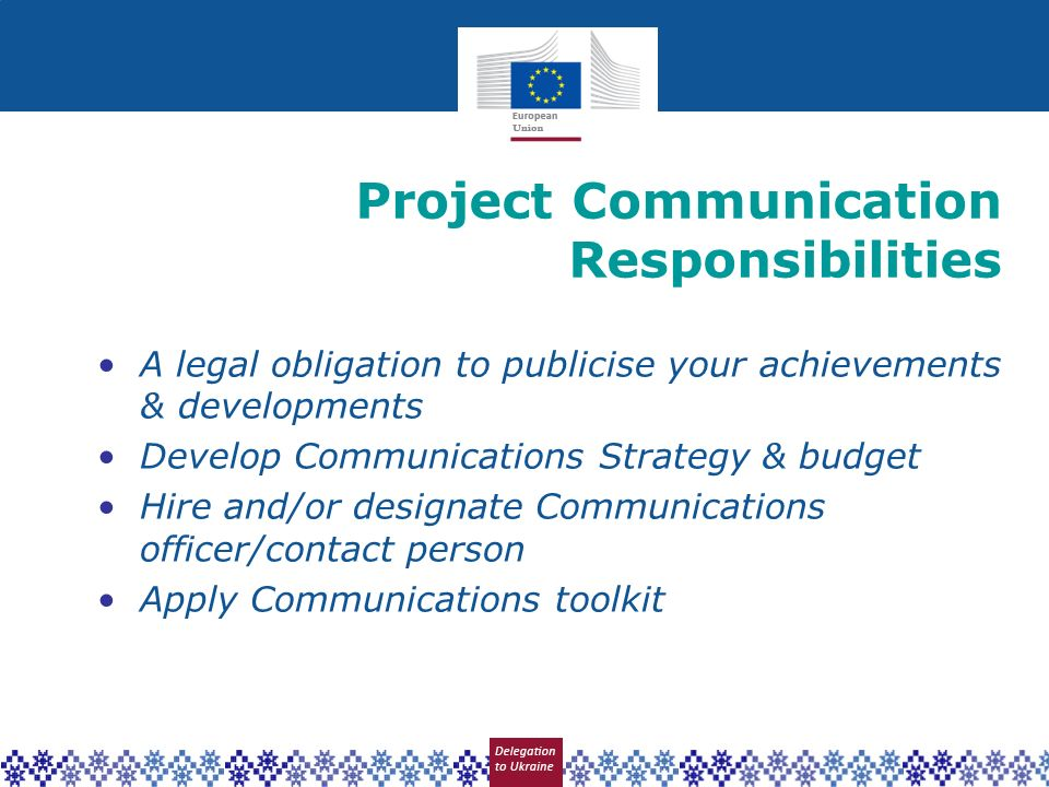 Project Communication Responsibilities