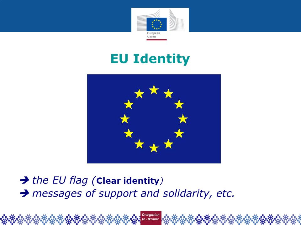 EU Identity  the EU flag (Clear identity)