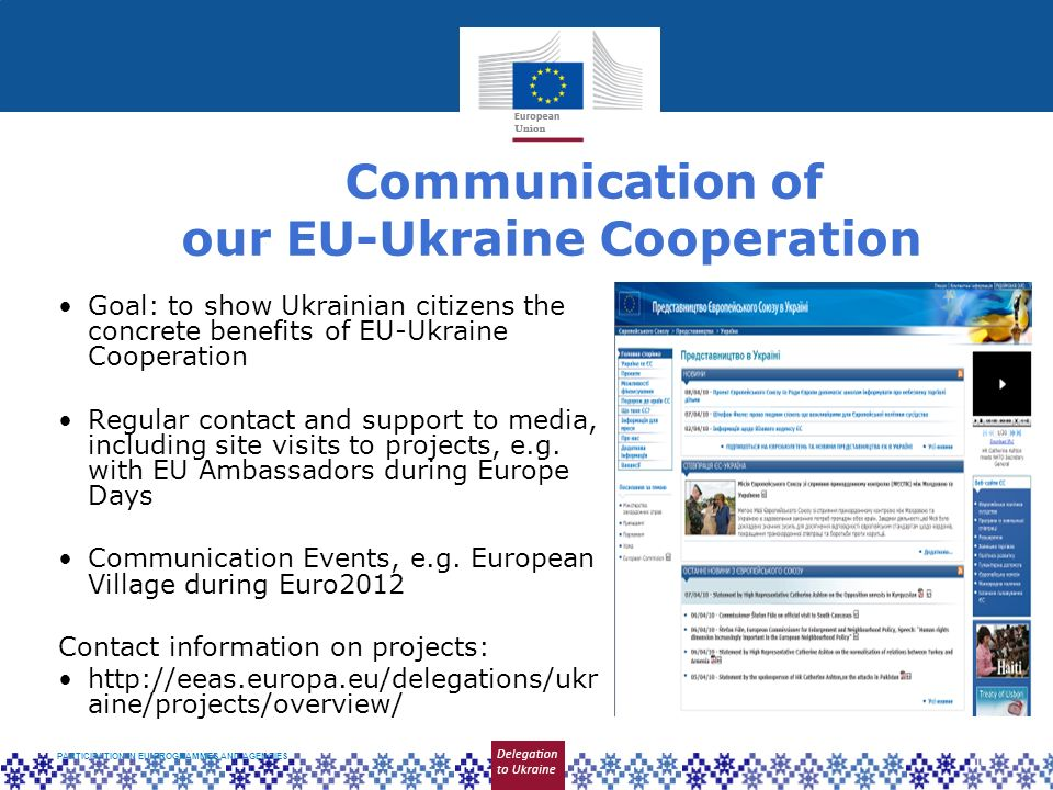Communication of our EU-Ukraine Cooperation