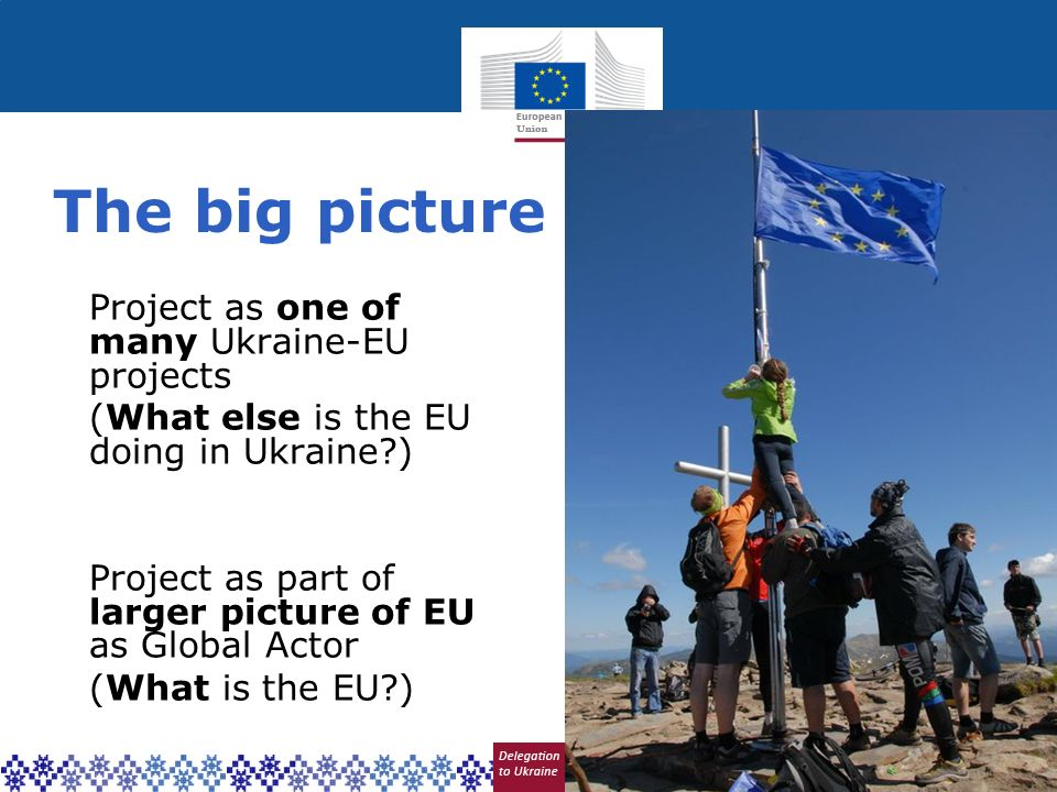 The big picture Project as one of many Ukraine-EU projects