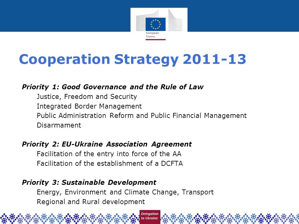 Cooperation Strategy 2011-13