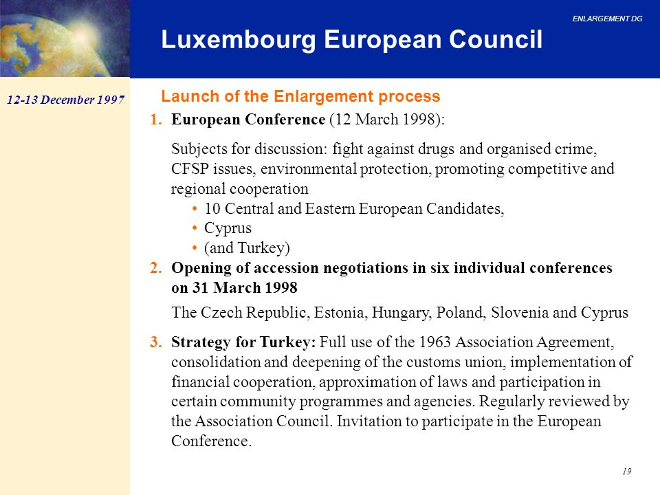 Luxembourg European Council