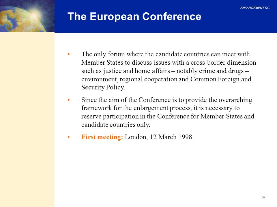 The European Conference