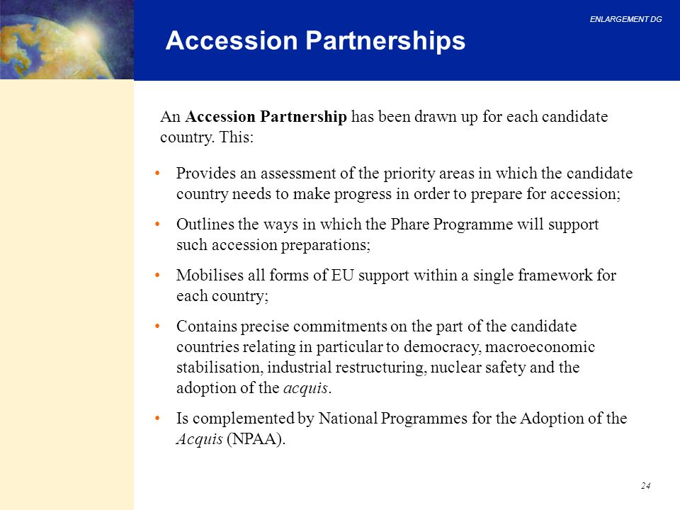 Accession Partnerships