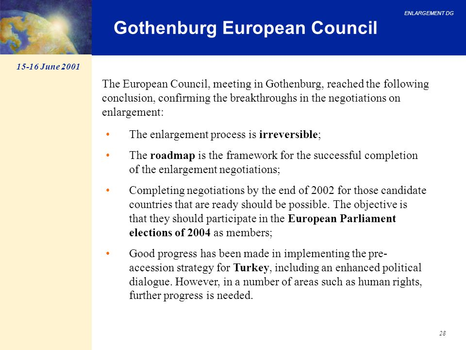 Gothenburg European Council
