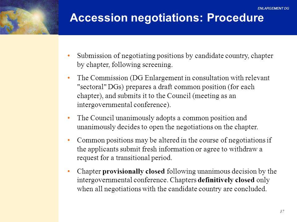 Accession negotiations: Procedure