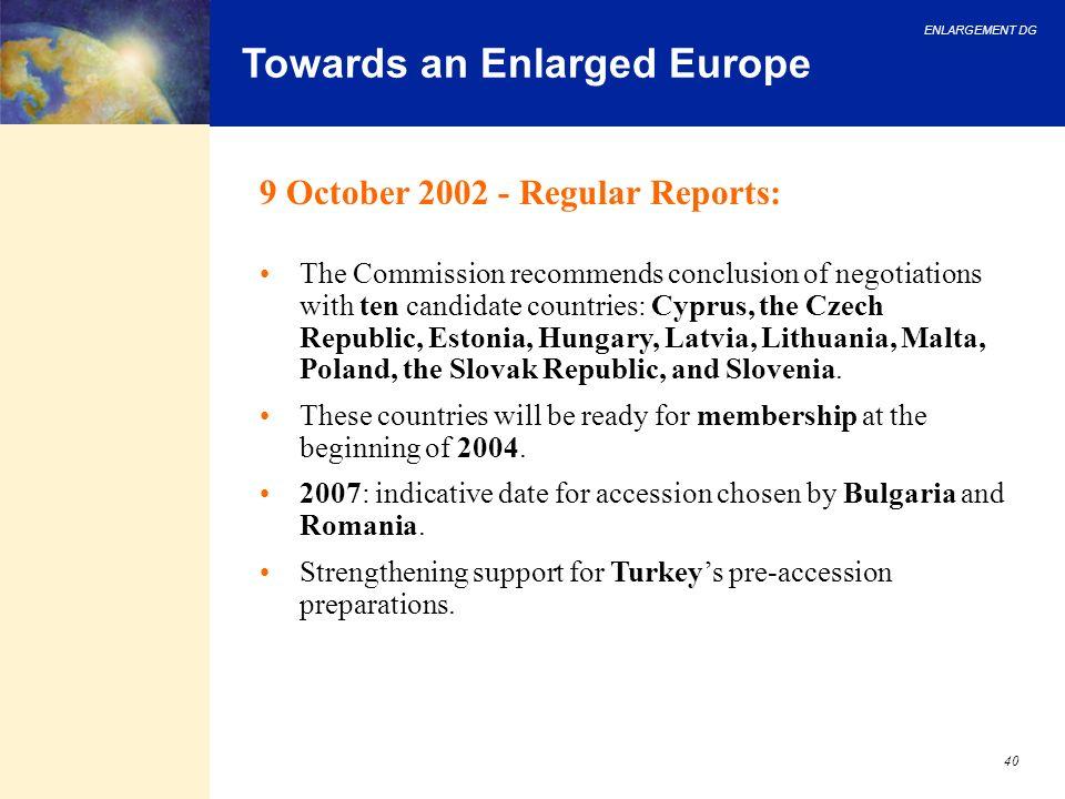 Towards an Enlarged Europe