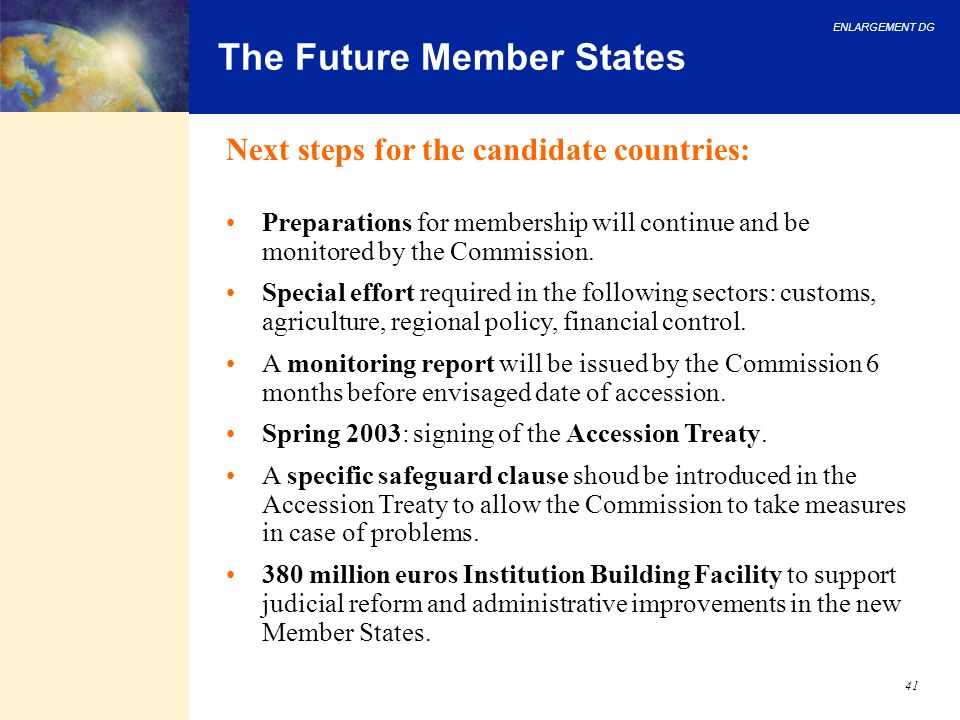 The Future Member States