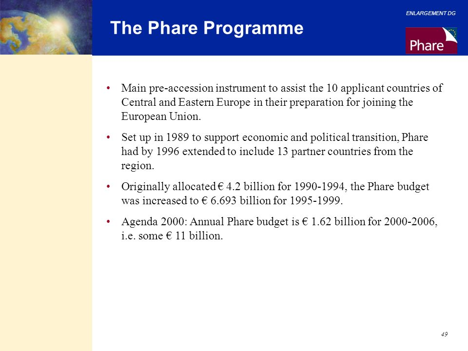 The Phare Programme