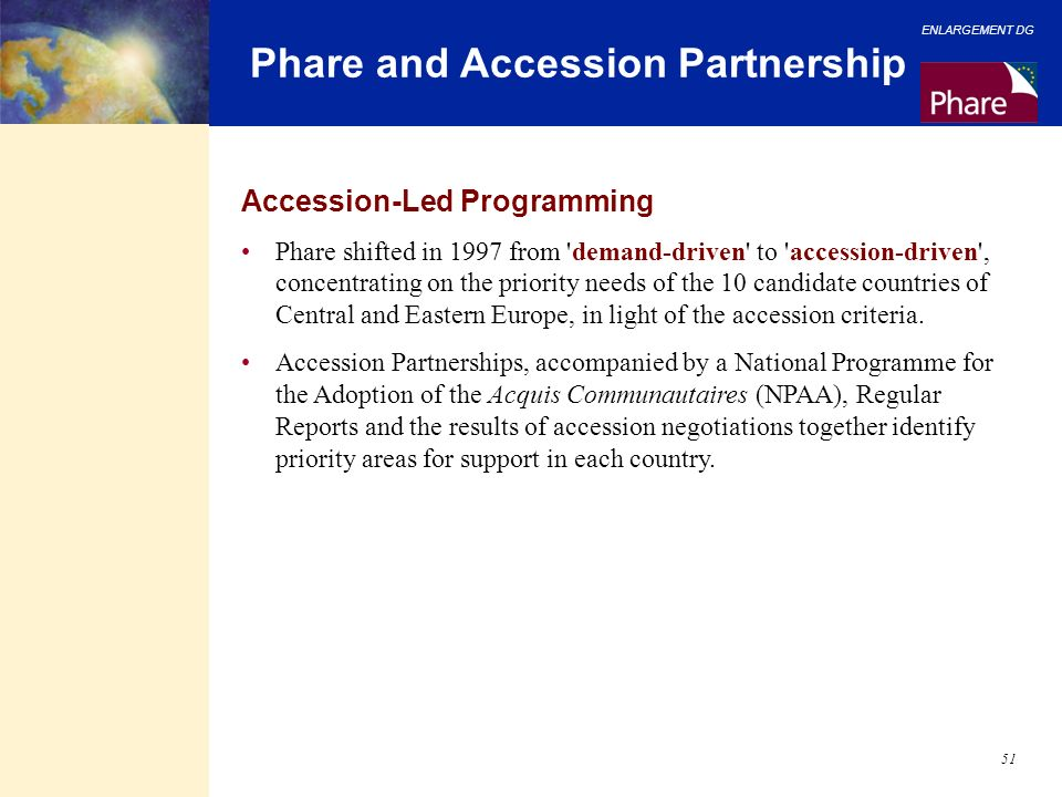 Phare and Accession Partnership