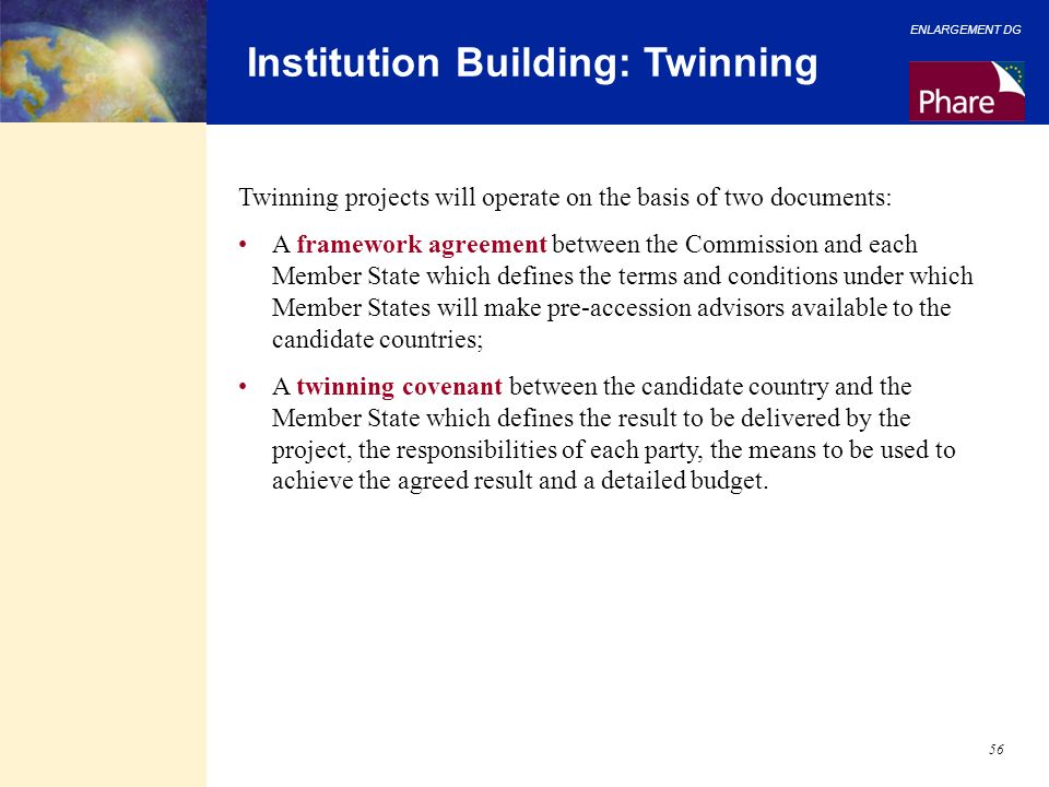 Institution Building: Twinning