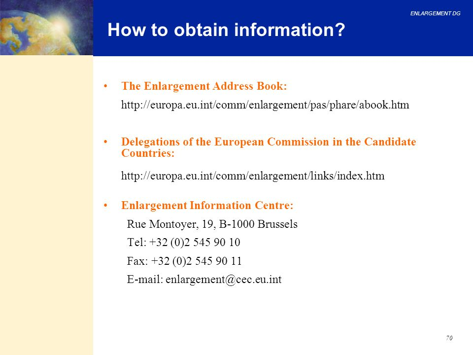 How to obtain information