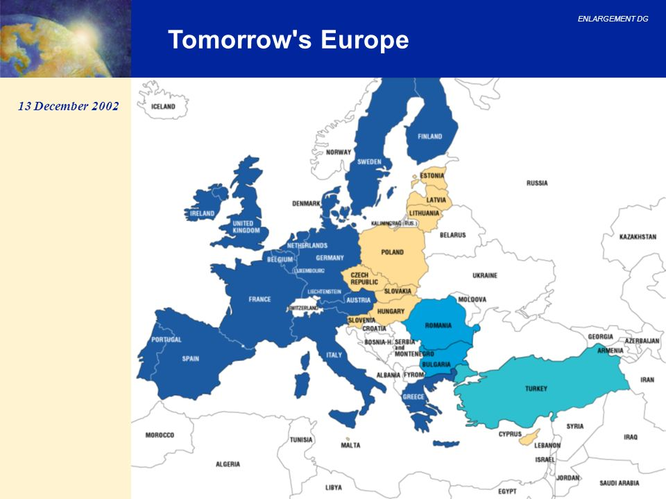 Tomorrow s Europe 13 December 2002