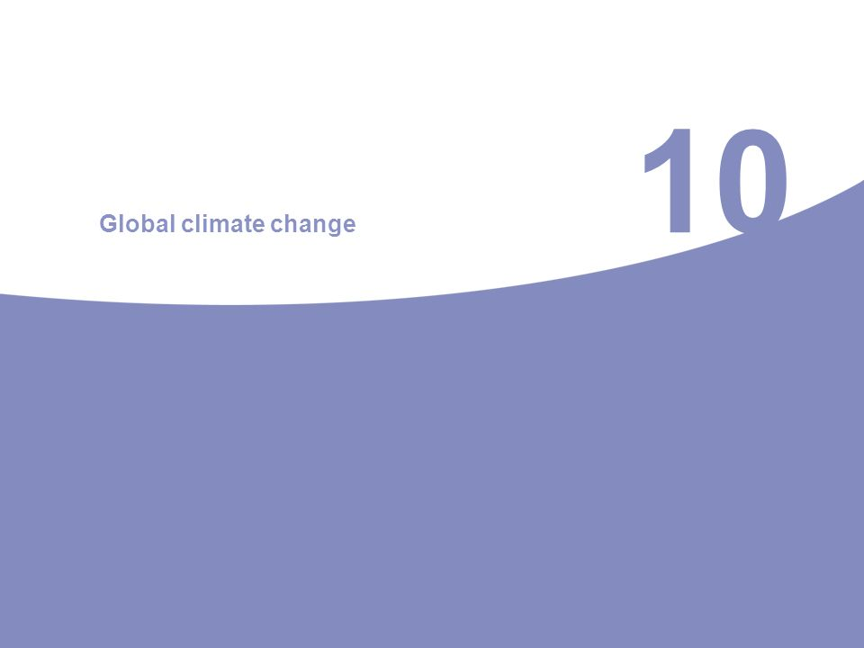 10 Global climate change