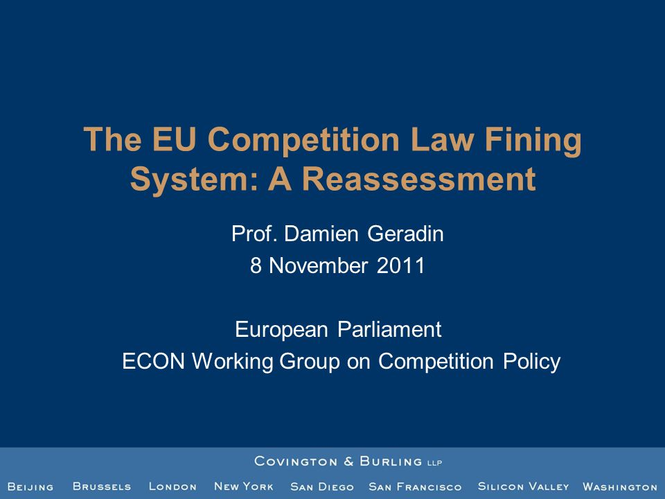 The EU Competition Law Fining System: A Reassessment