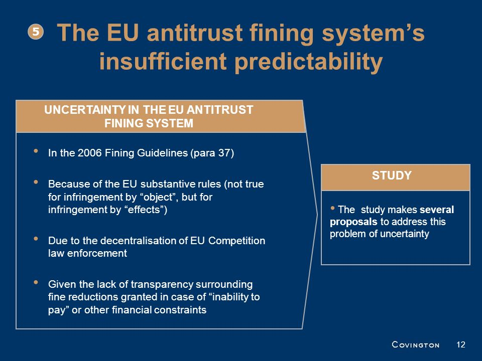 The EU antitrust fining system's insufficient predictability