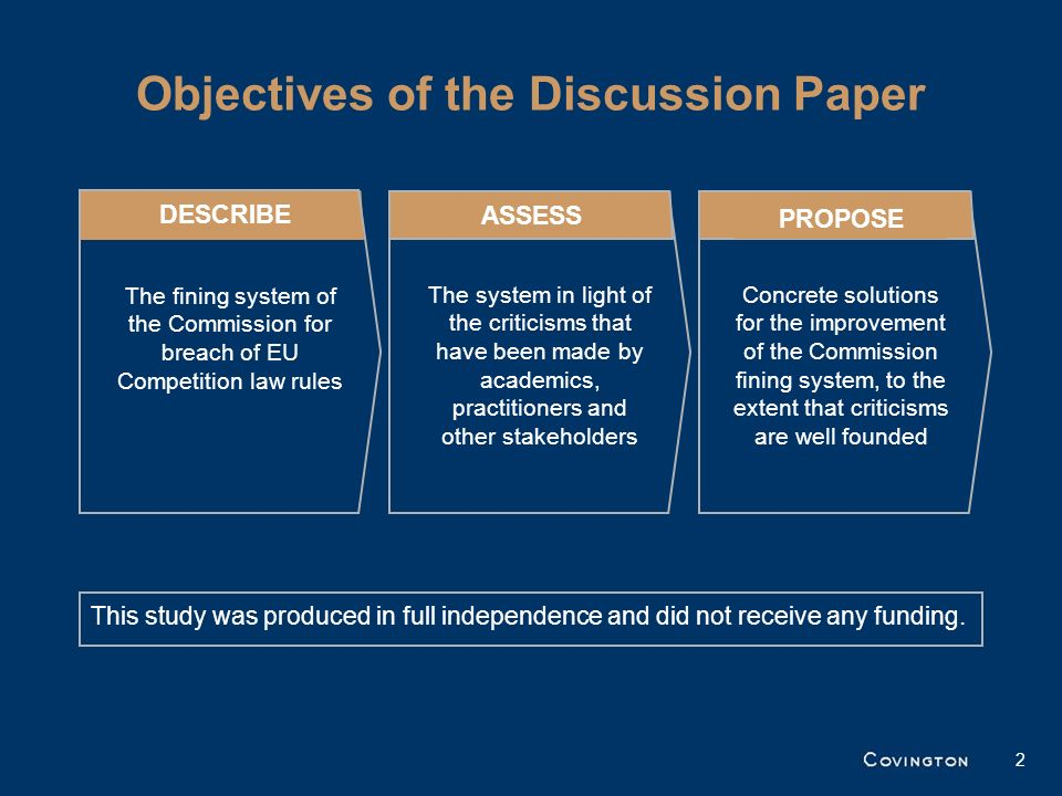 Objectives of the Discussion Paper
