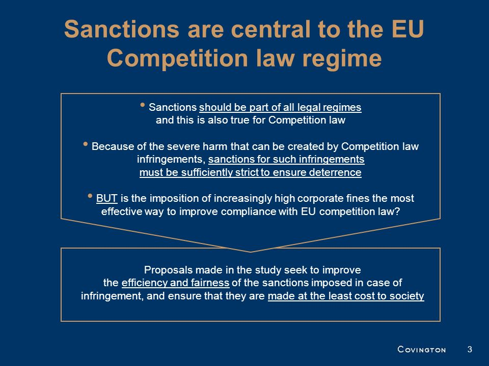 Sanctions are central to the EU Competition law regime