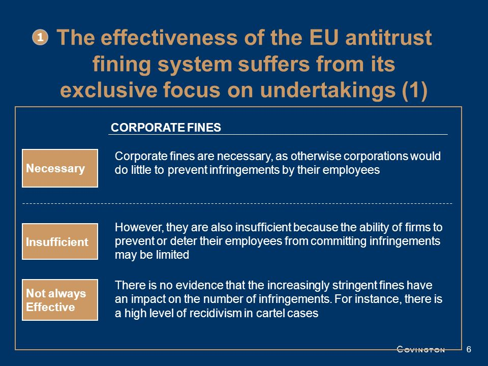 1 The effectiveness of the EU antitrust fining system suffers from its exclusive focus on undertakings (1)