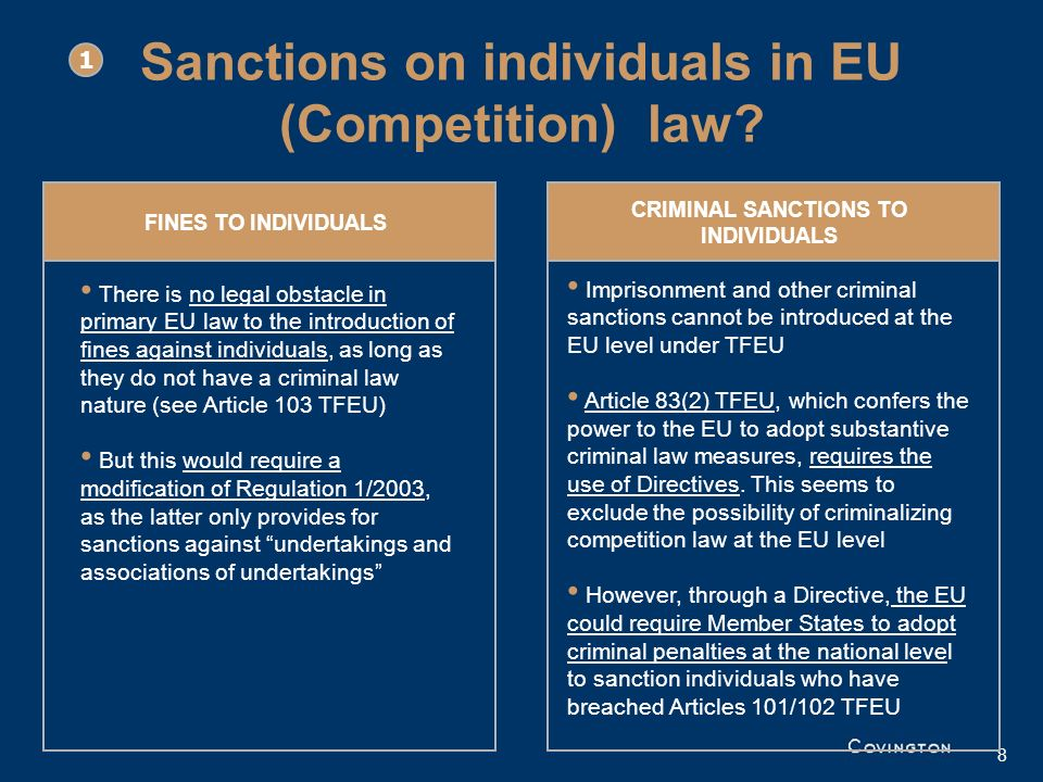 Sanctions on individuals in EU (Competition) law