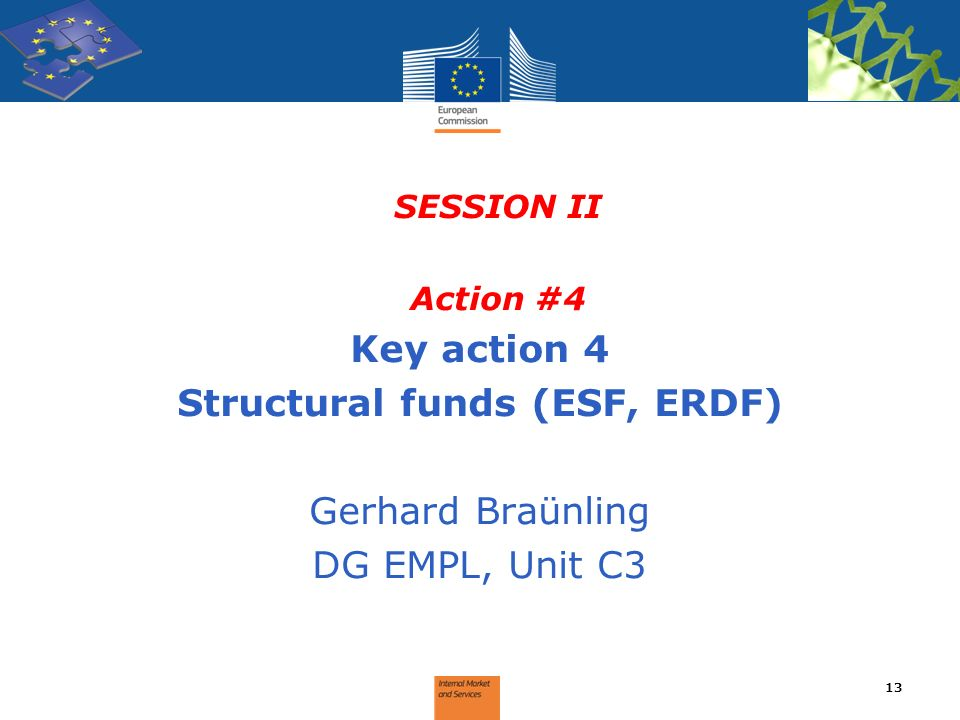 Structural funds (ESF, ERDF)