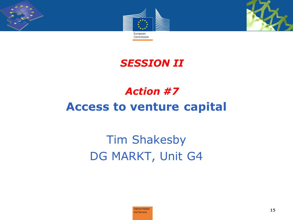 Access to venture capital