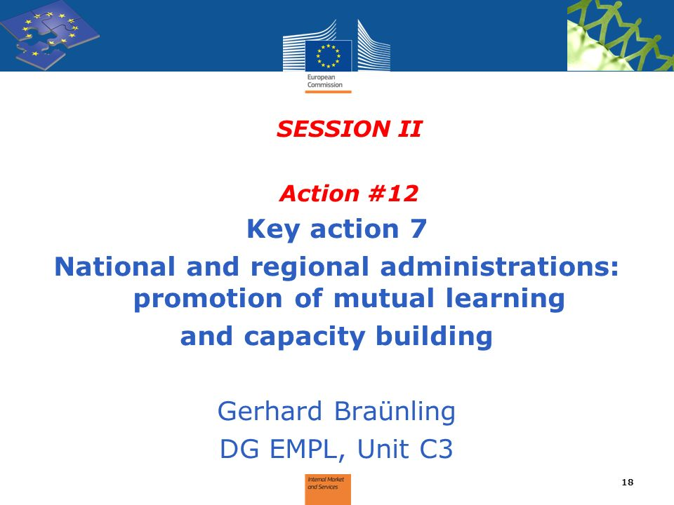 National and regional administrations: promotion of mutual learning