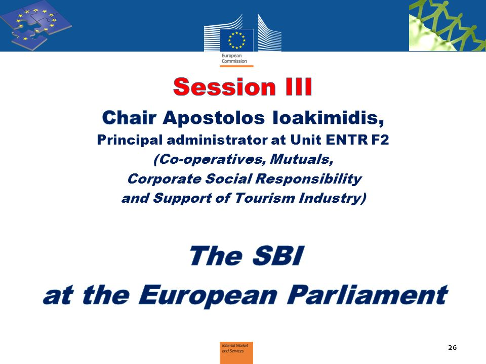 The SBI at the European Parliament