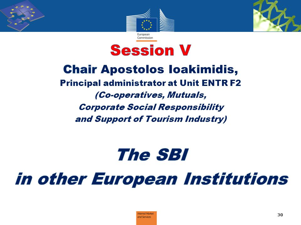 The SBI in other European Institutions
