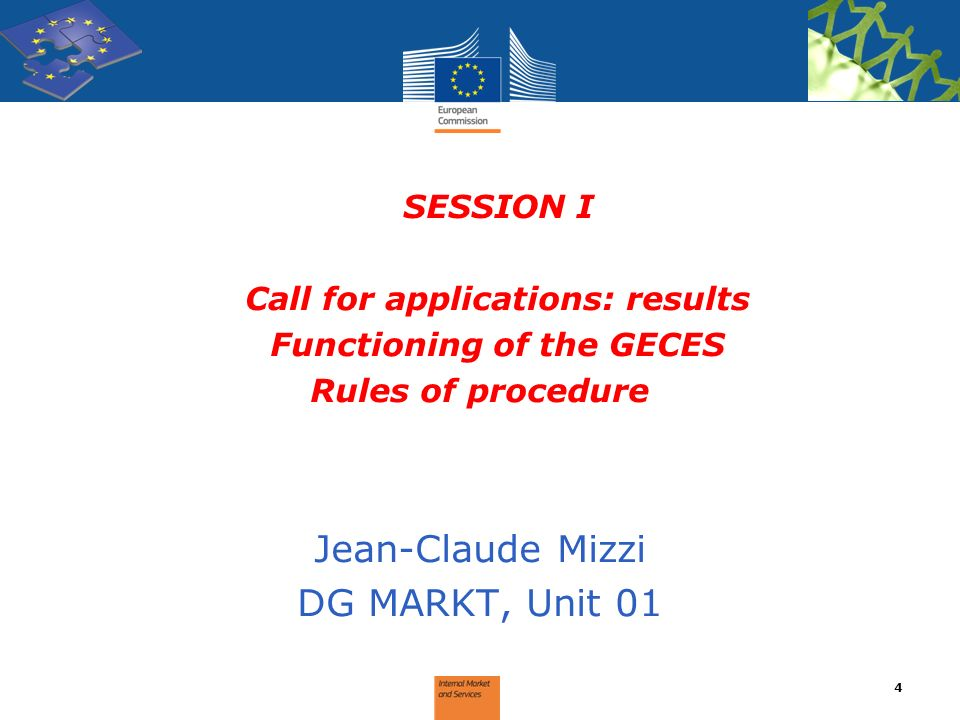 Call for applications: results Functioning of the GECES