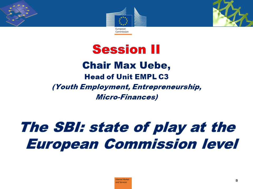 The SBI: state of play at the European Commission level