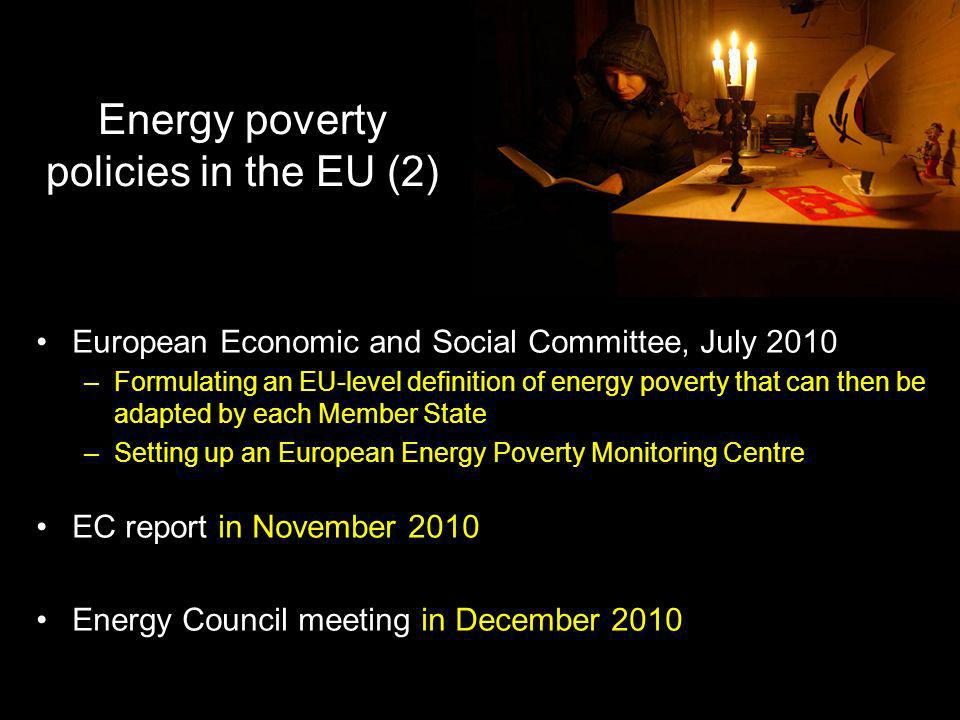 Energy poverty policies in the EU (2)