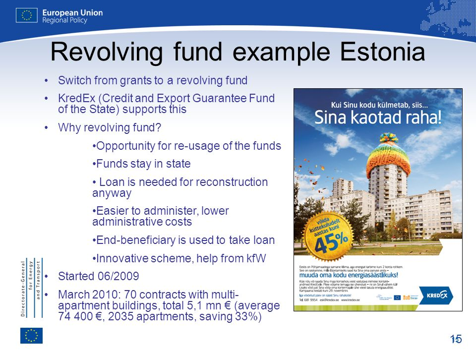 Revolving fund example Estonia