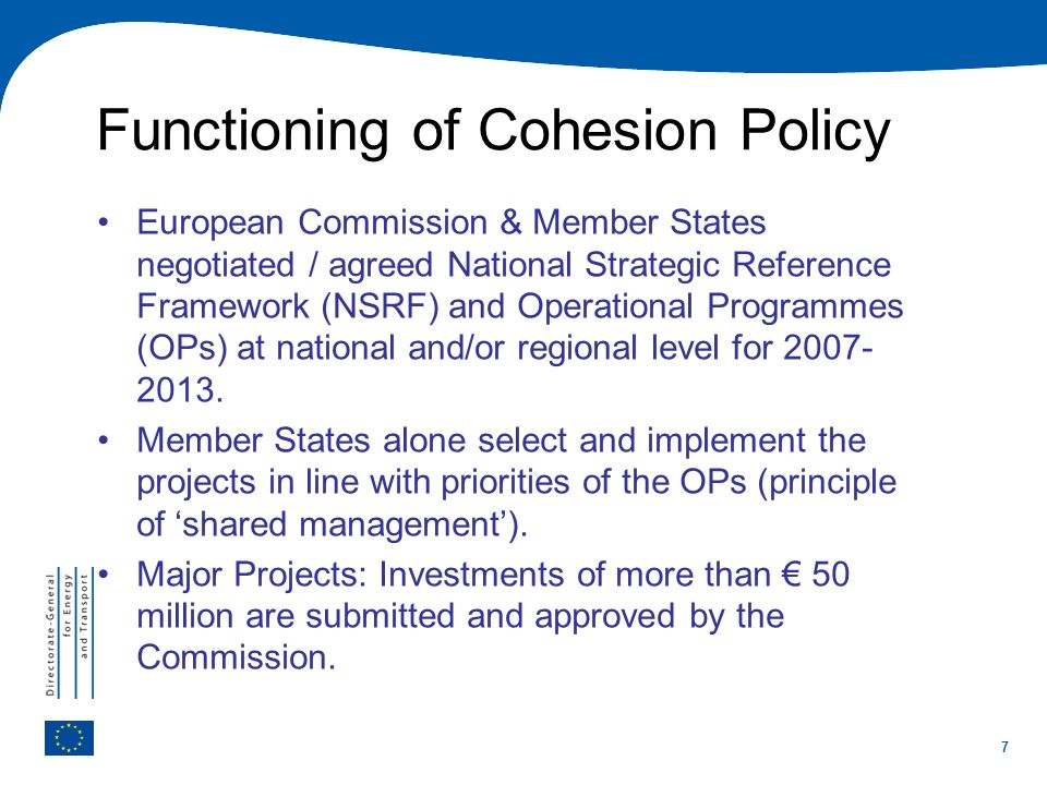 Functioning of Cohesion Policy