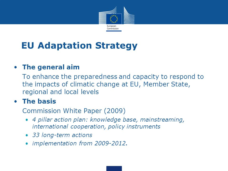 EU Adaptation Strategy