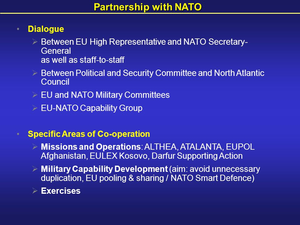 the eu nato relationship a legal and political perspective