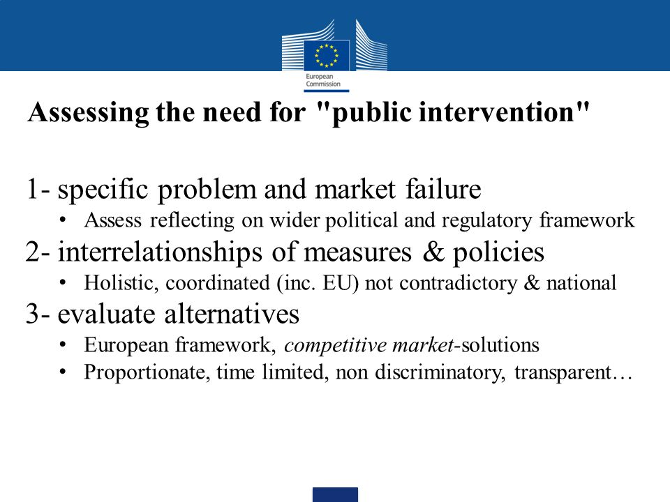Assessing the need for public intervention