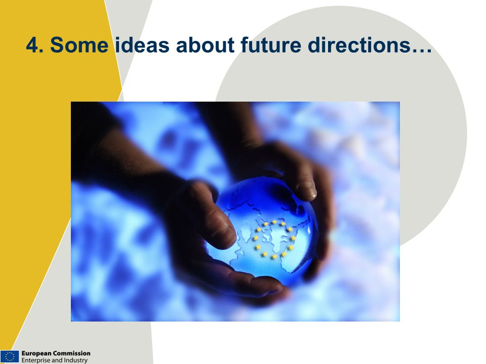 4. Some ideas about future directions…