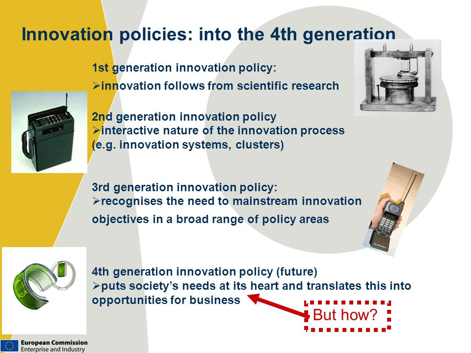 Innovation policies: into the 4th generation