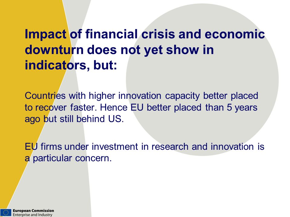 Impact of financial crisis and economic downturn does not yet show in indicators, but: