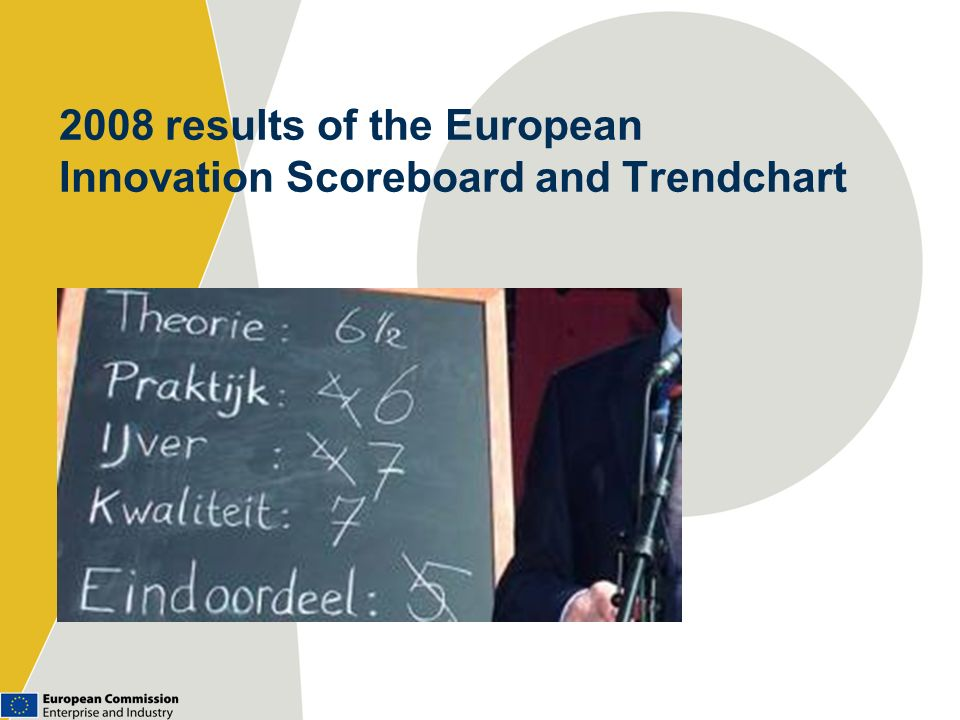 2008 results of the European Innovation Scoreboard and Trendchart