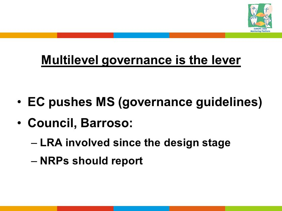 Multilevel governance is the lever