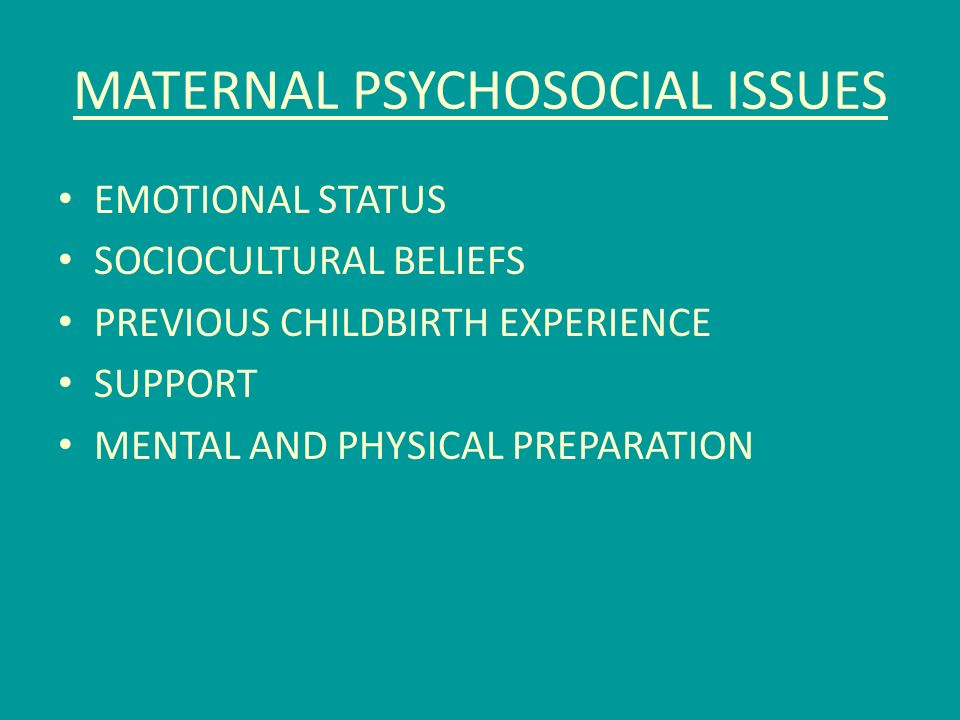 sociocultural aspects of maternal and child Table of contents for maternal & child health nursing : care of the childbearing & childrearing family / adele pillitteri, available from the library of congress.